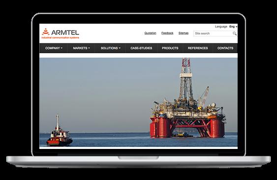 Продвижение сайта разработчика интеллектуальных систем промышленной связи «Армтел»